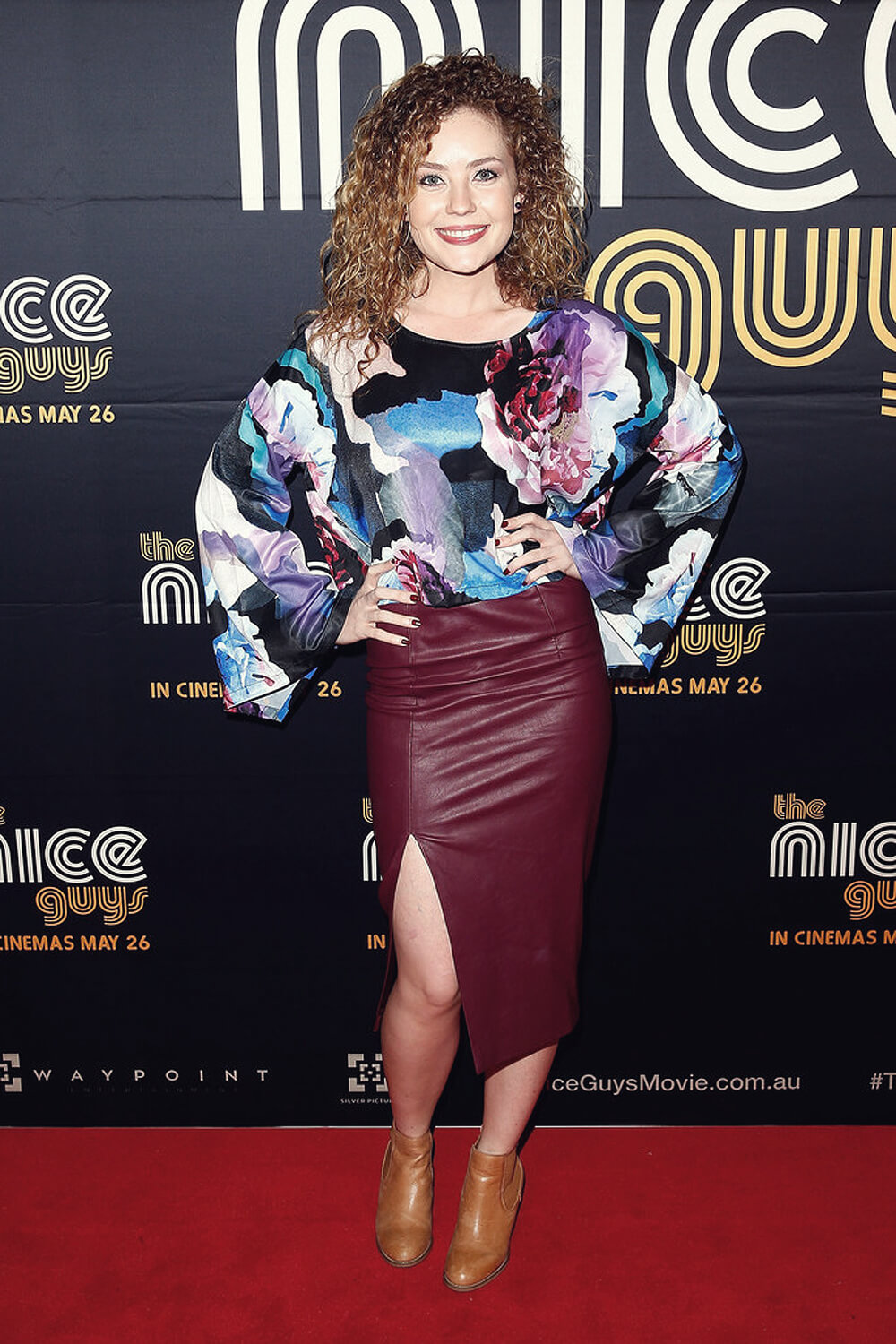 Gracie Gilbert arrives ahead of The Nice Guys Sydney Premiere