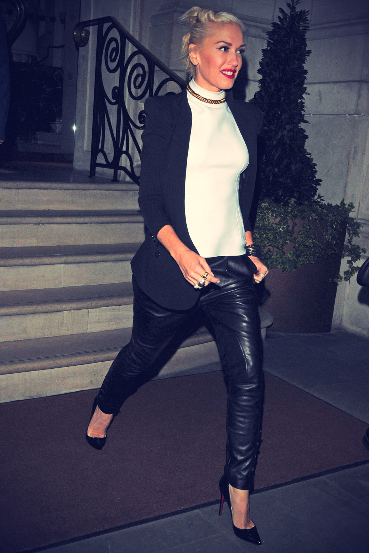 Gwen Stefani leaving a hotel