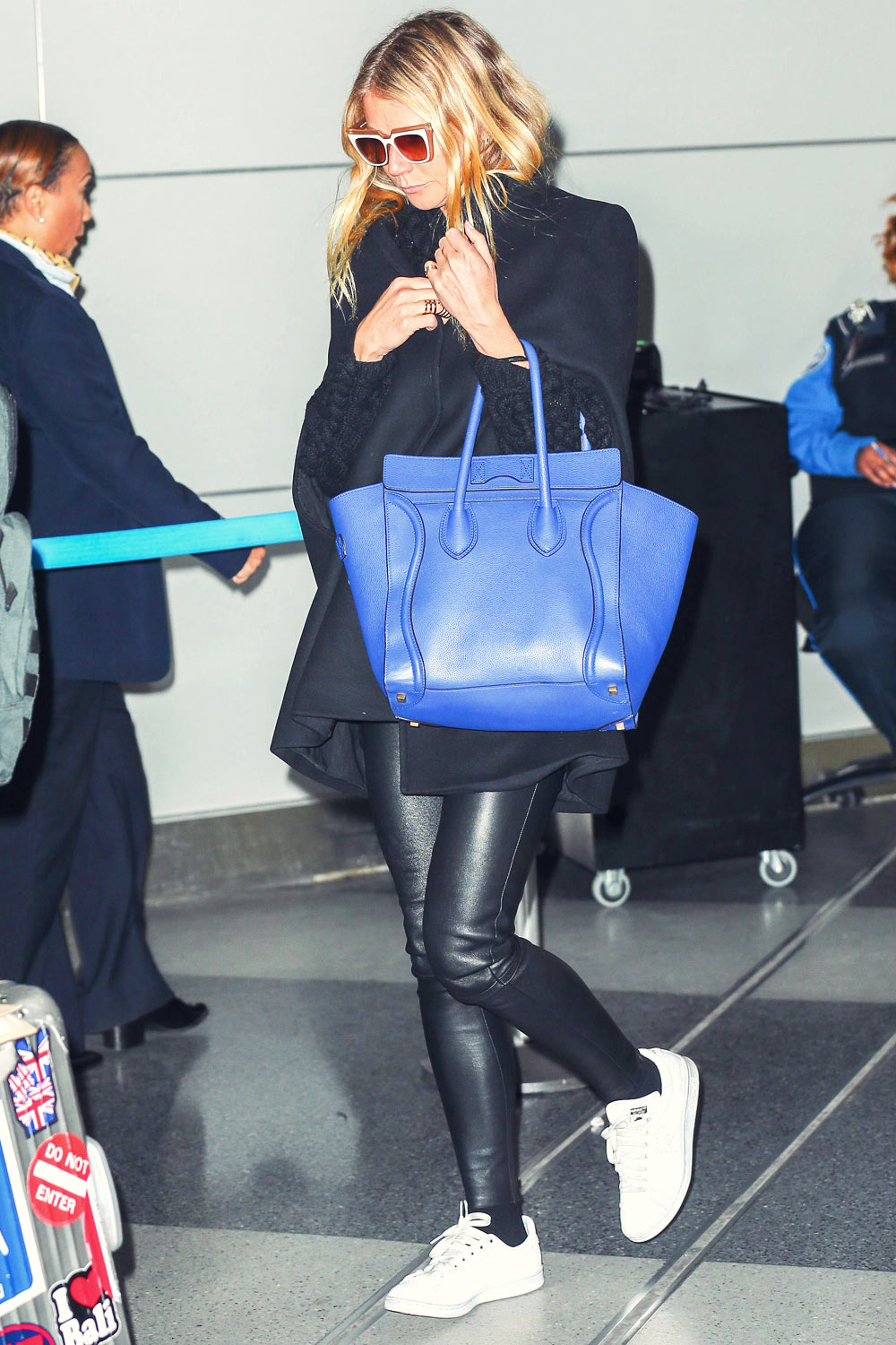 Gwyneth Paltrow At Jfk Airport Leather Celebrities