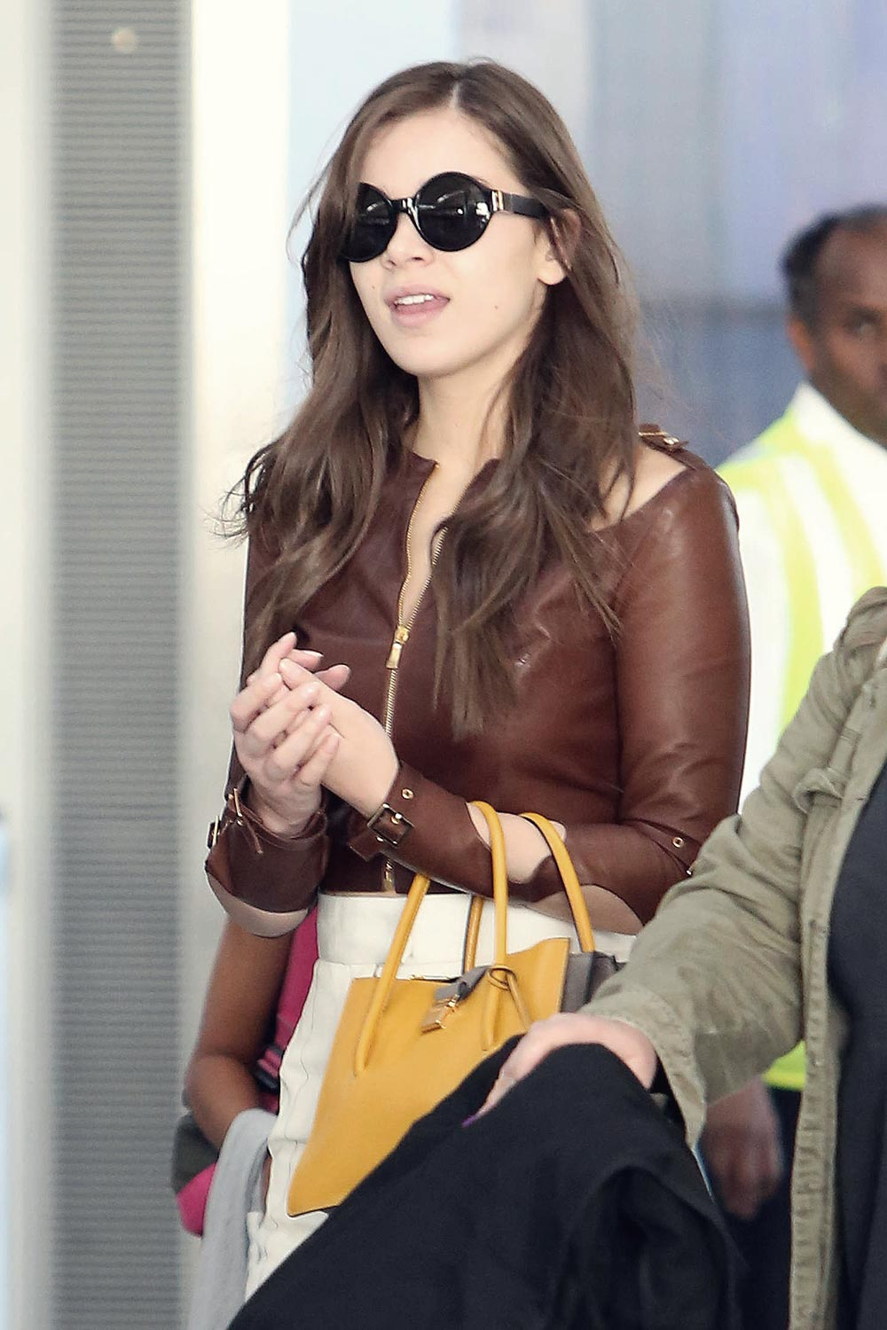 Hailee Steinfeld at Pearson International Airport
