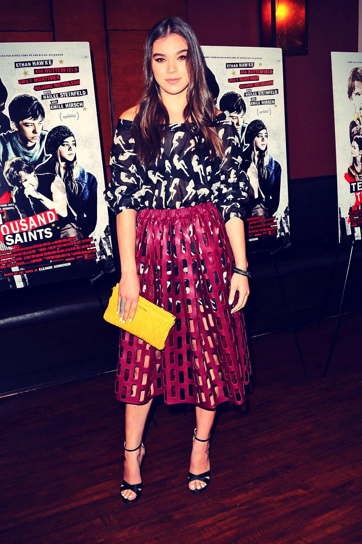 Hailee Steinfeld attends Ten Thousand Saints Premiere