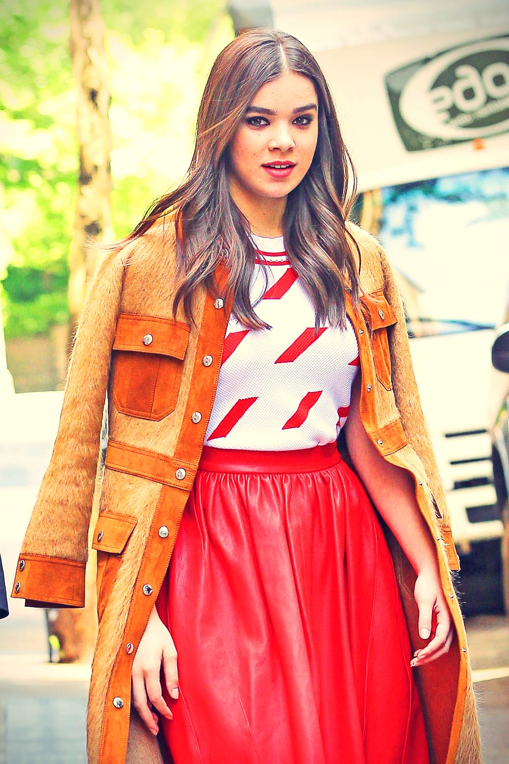 Hailee Steinfeld leaving The View in NYC