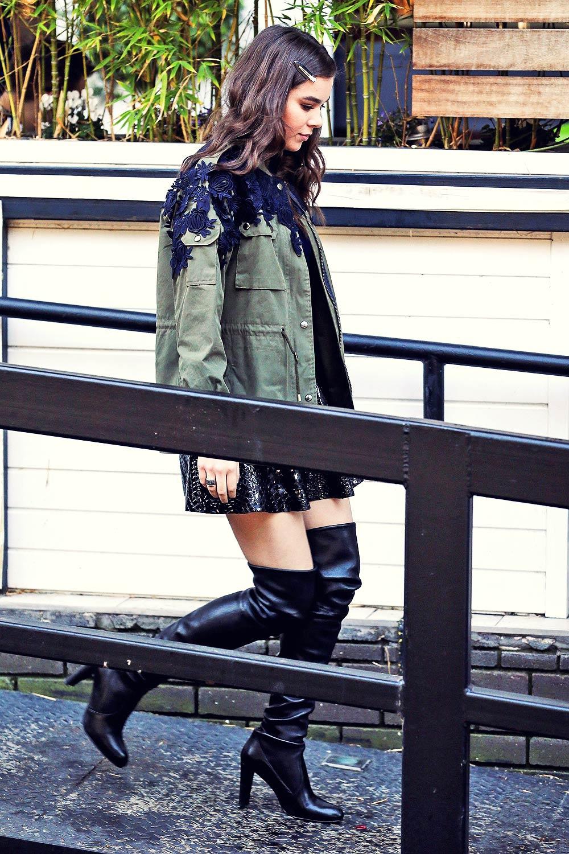 Hailee Steinfeld seen outside the ITV studios