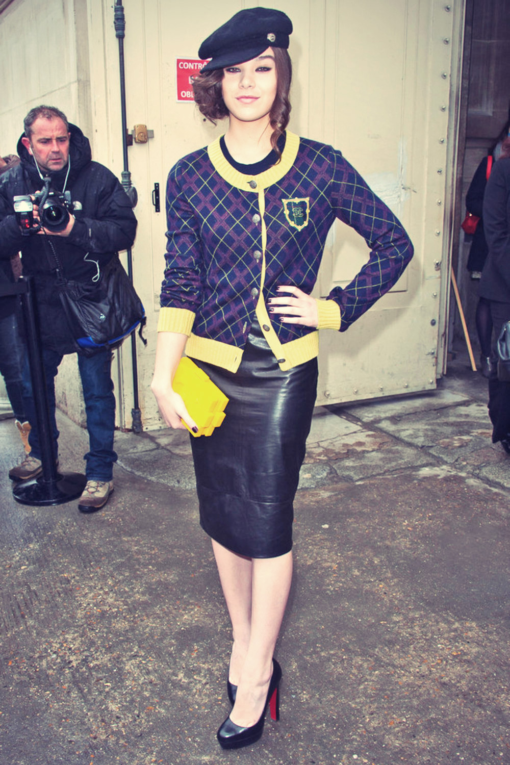 Hailee Steinfeld attends Paris Fashion Week 2013