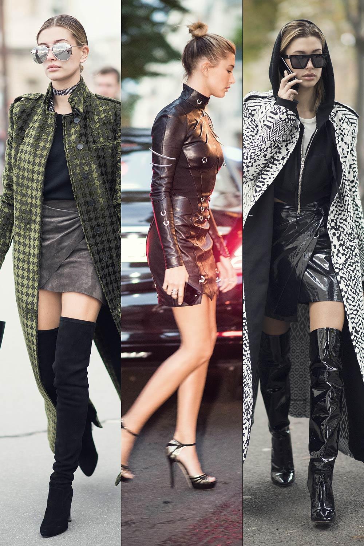 Hailey Baldwin Street Style at Paris Fashion Week