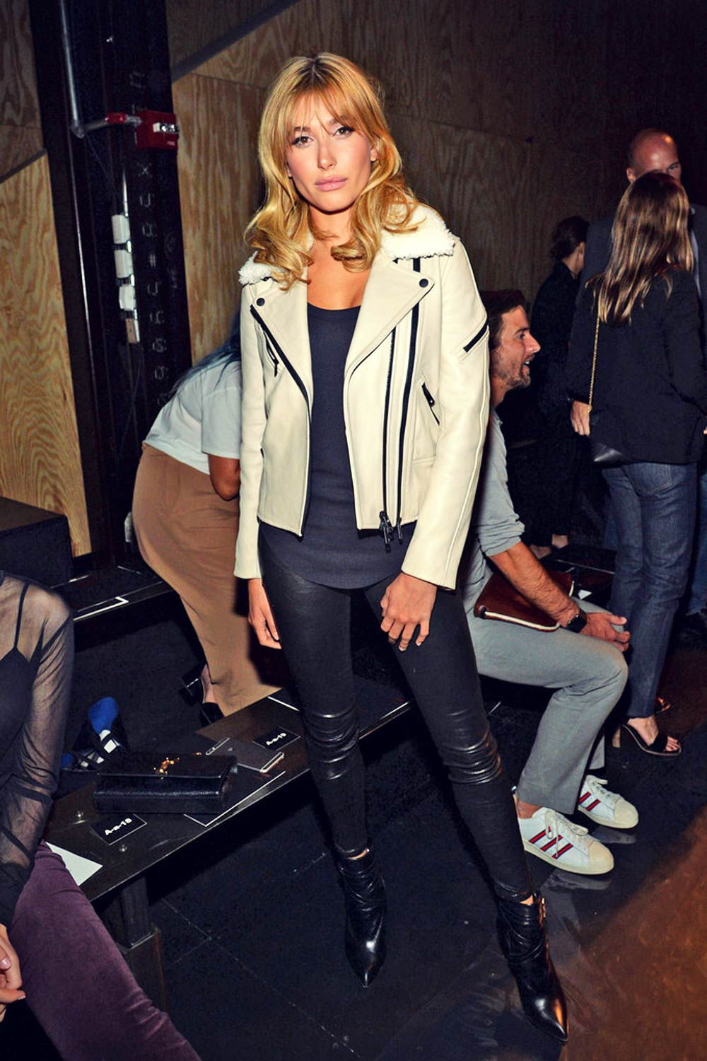 Hailey Baldwin attends the rag & bone Spring 2016 fashion show