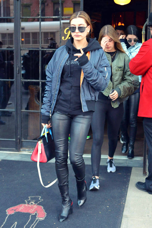 Hailey Baldwin leaving the Bowery Hotel