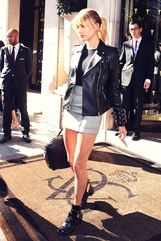 Hailey Baldwin out in Paris