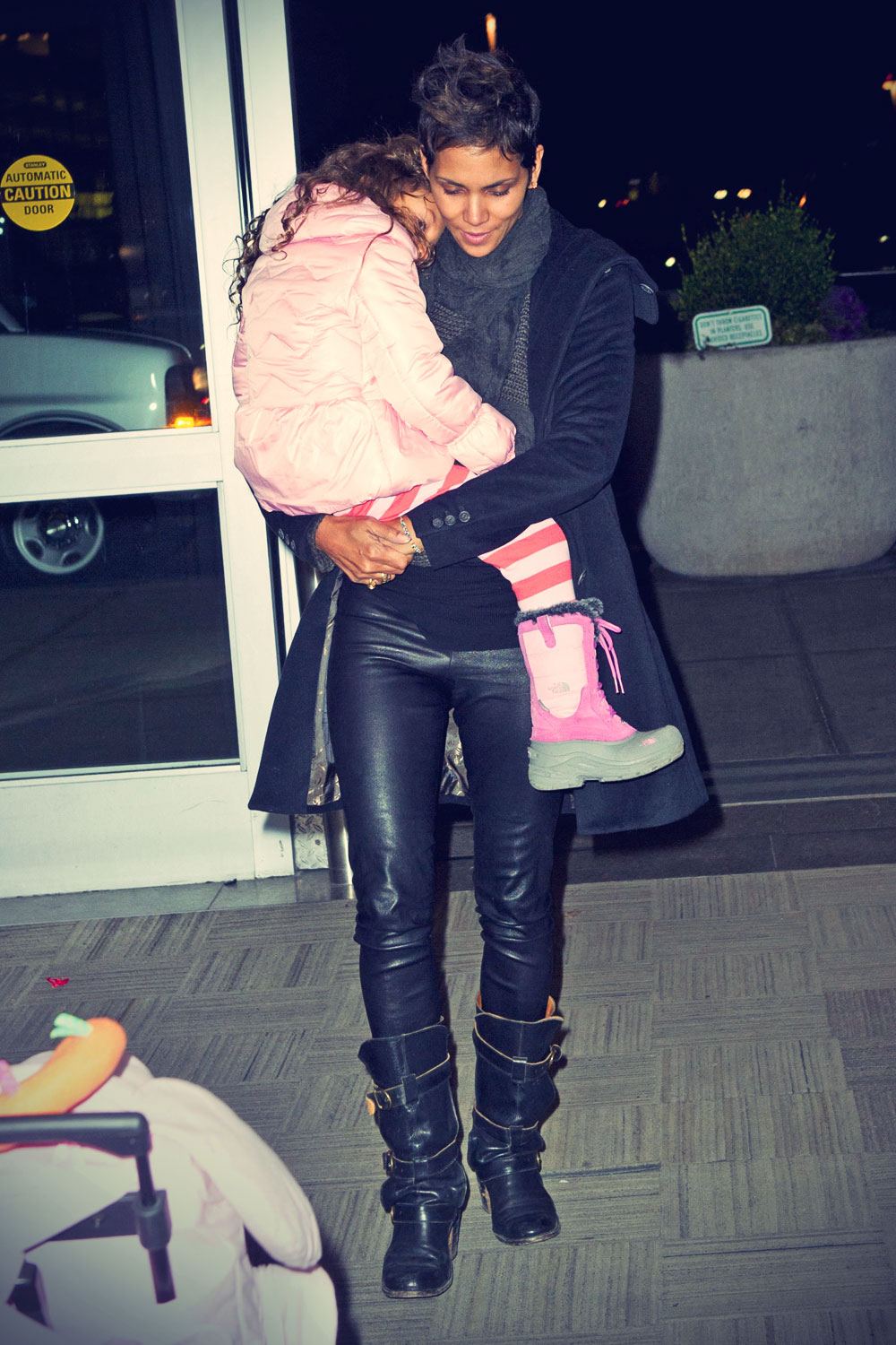 Halle Berry arrives at JFK Airport