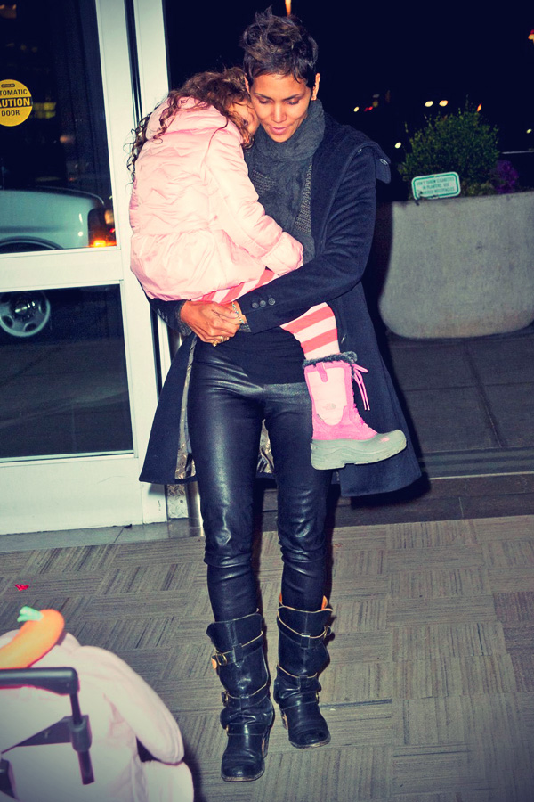 Halle Berry arriving at JFK Airport