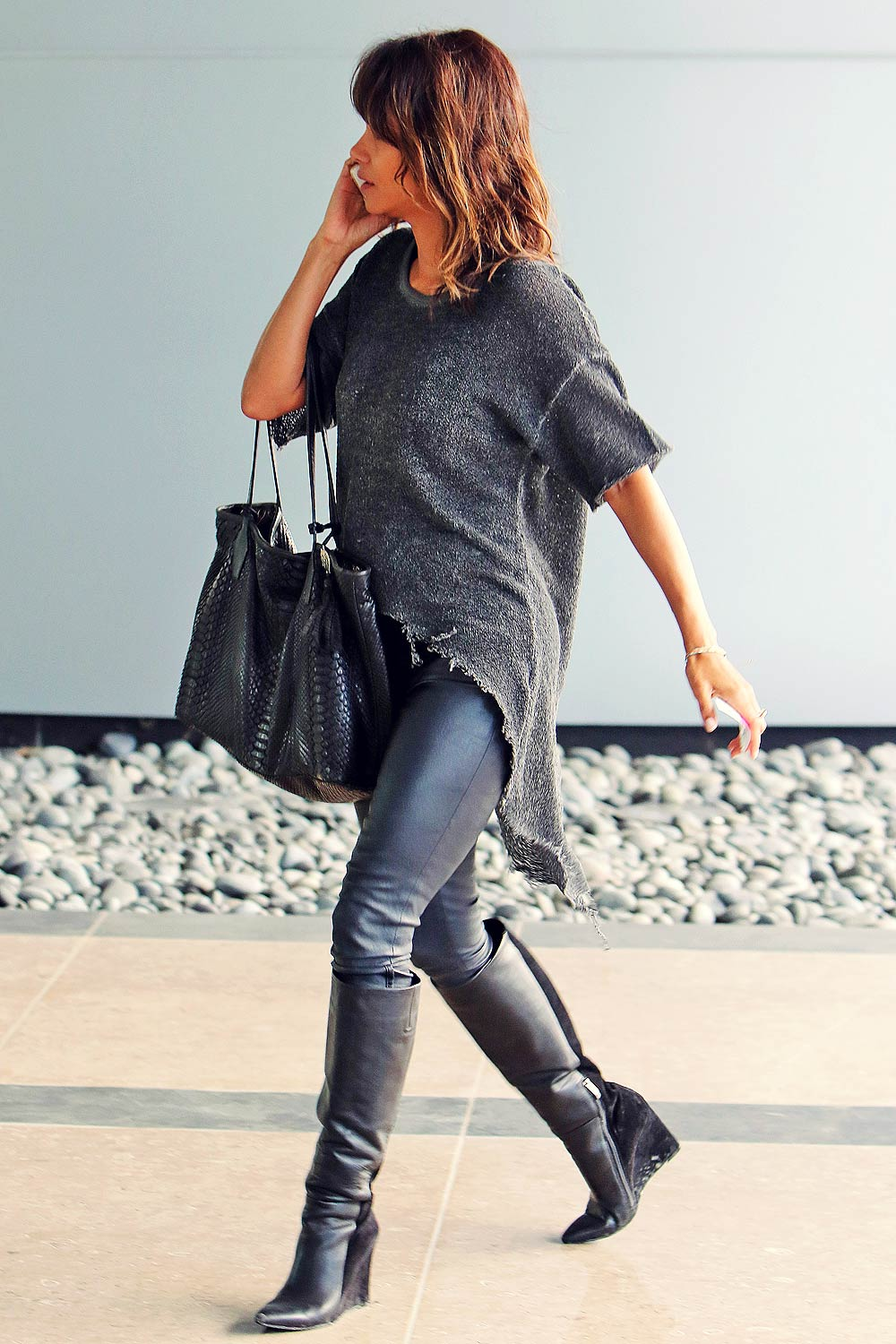 Halle Berry Arriving For A Meeting In Santa Monica