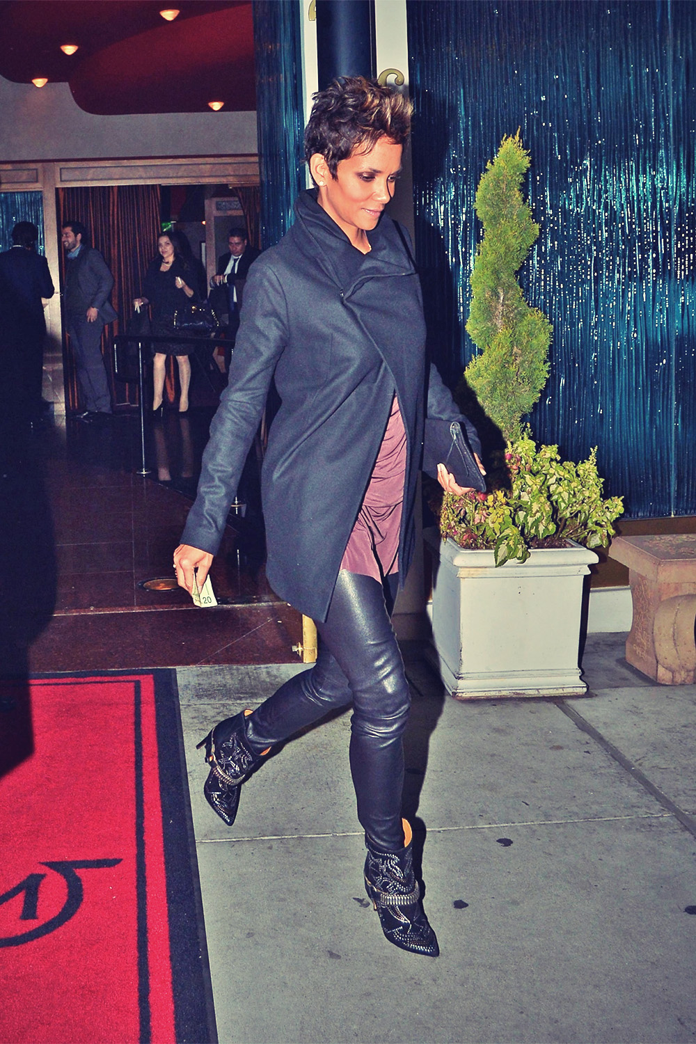 Halle Berry leaves Mastro's Steakhouse