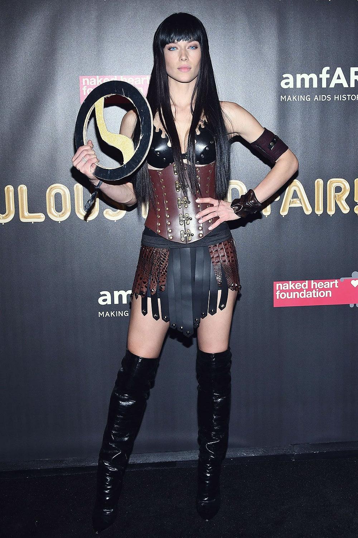 Hanna Ferguson attends amfAR's Fabuous Fun Fair