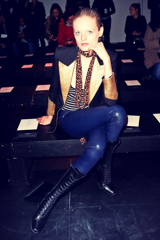 Hanne Gaby Odiele attends Saint Laurent