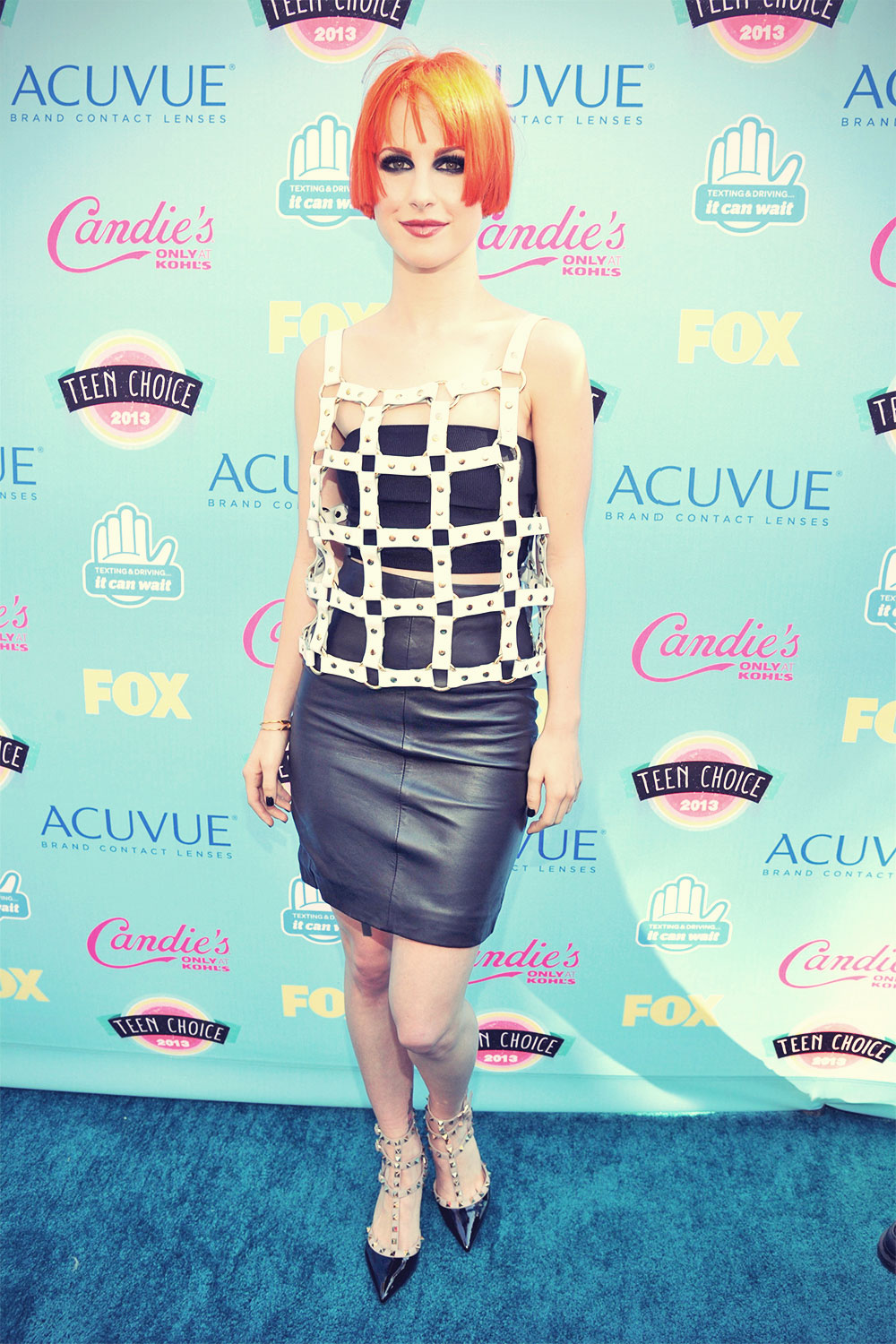 Hayley Williams attends 2013 Teen Choice awards
