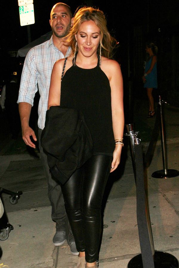 Haylie Duff Dines At Koi With A Mystery Man