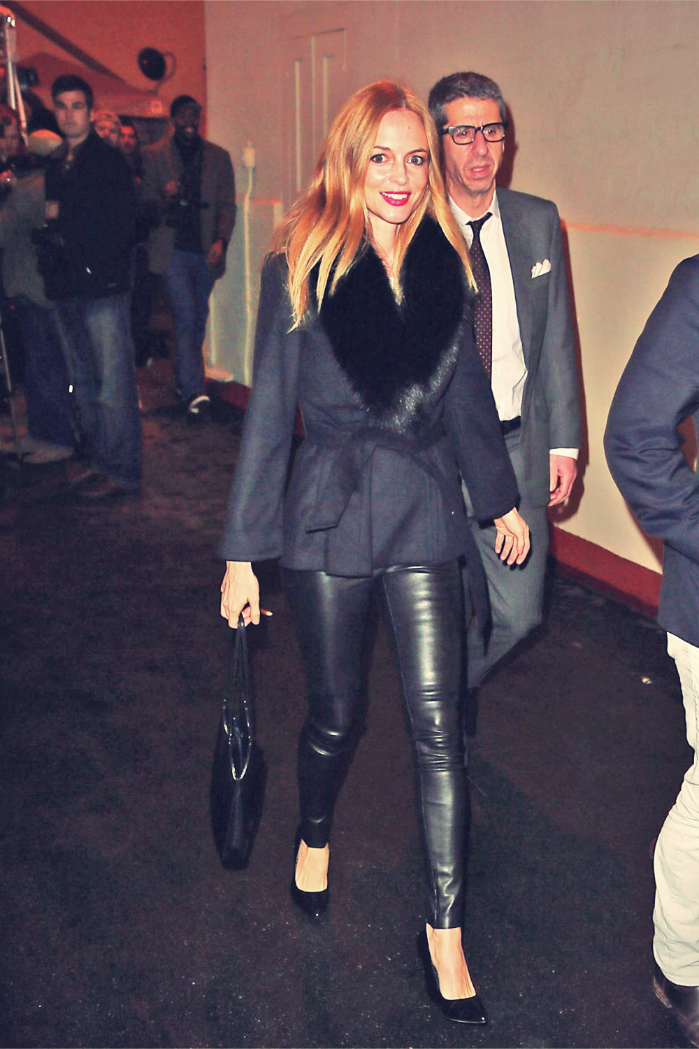 Heather Graham leather pants