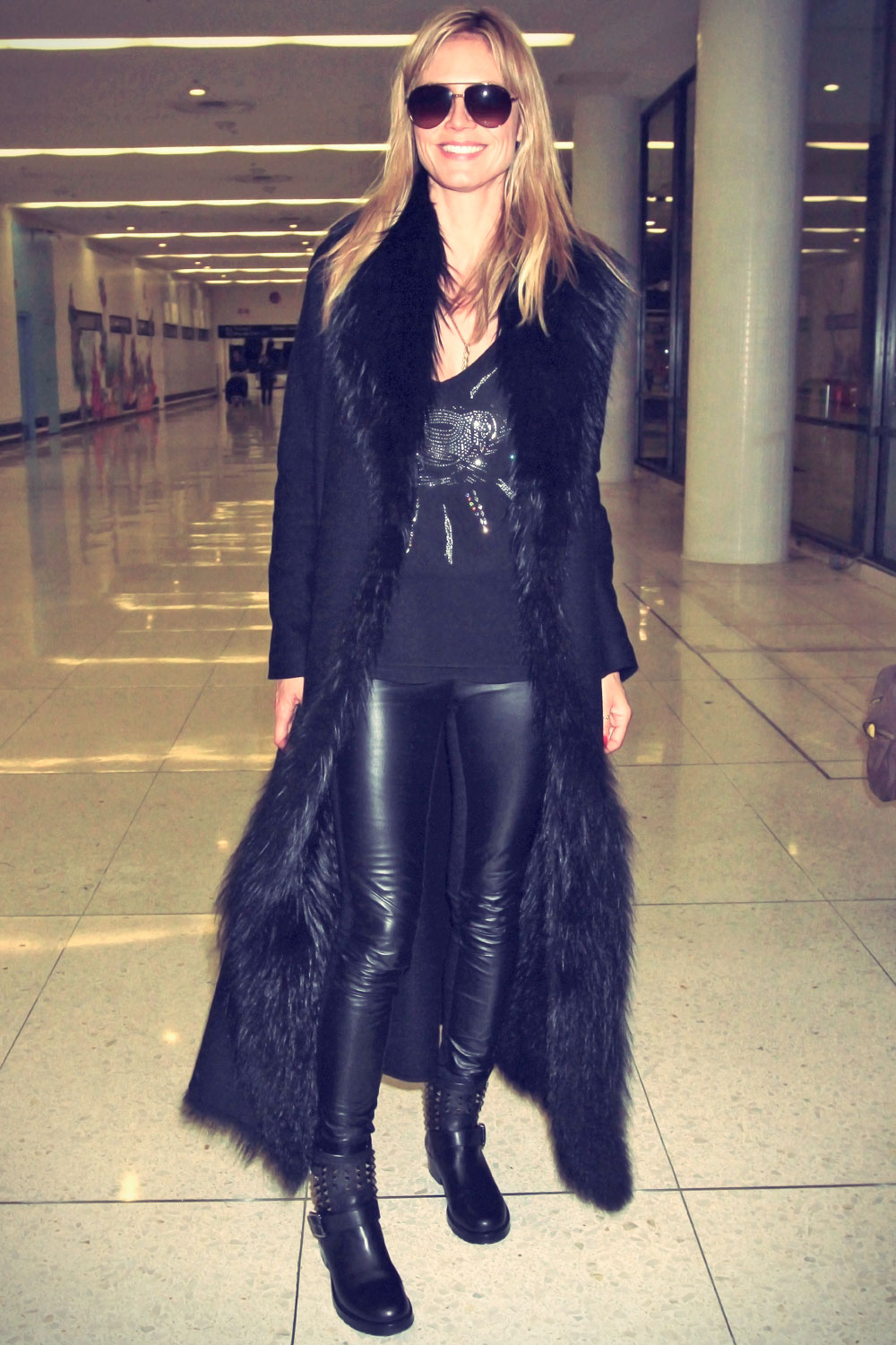 Heidi Klum arrives at LAX Airport