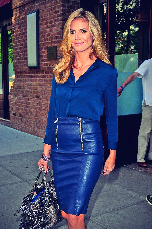Heidi Klum leaves a downtown hotel