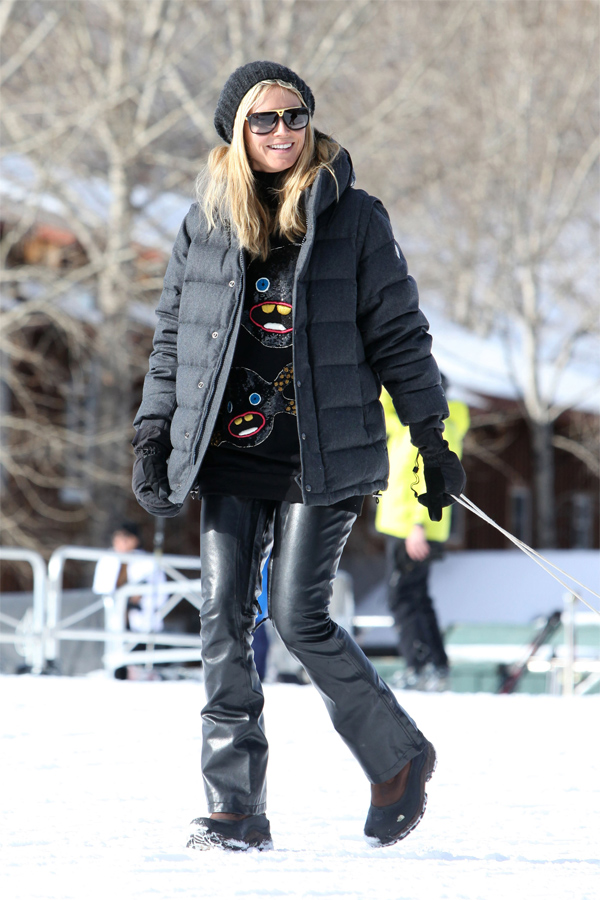 Heidi Klum out with her family in Aspen