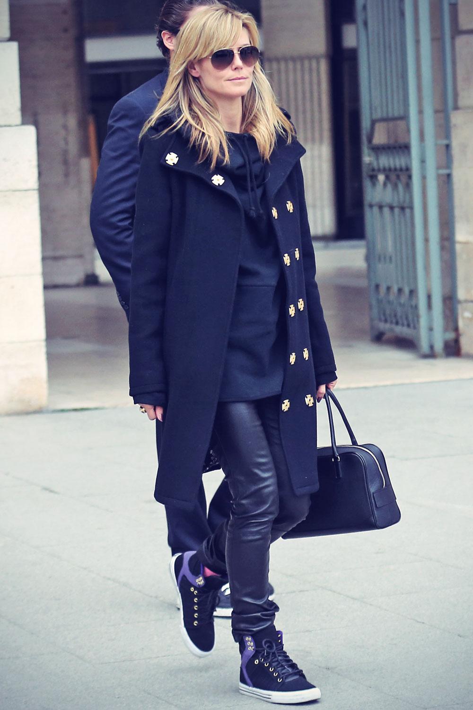 Heidi Klum visiting Paris