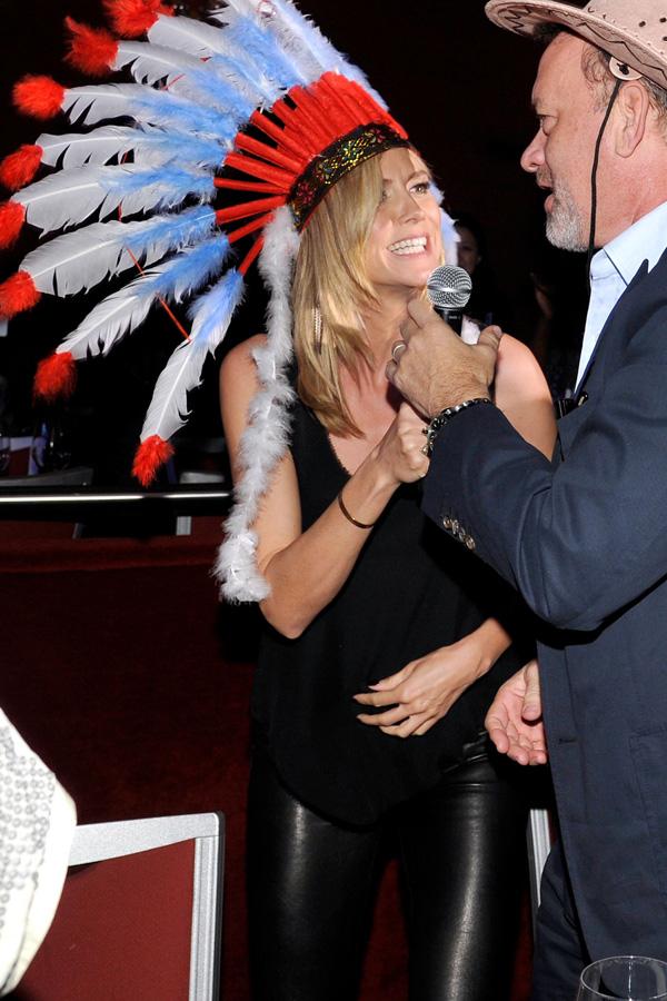 Heidi Klum with Tom Hanks at UNICEF Playlist With The A-List