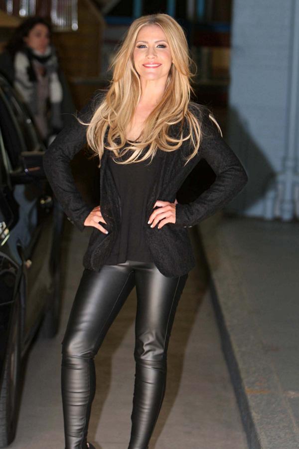 Heidi Range arriving London Studios