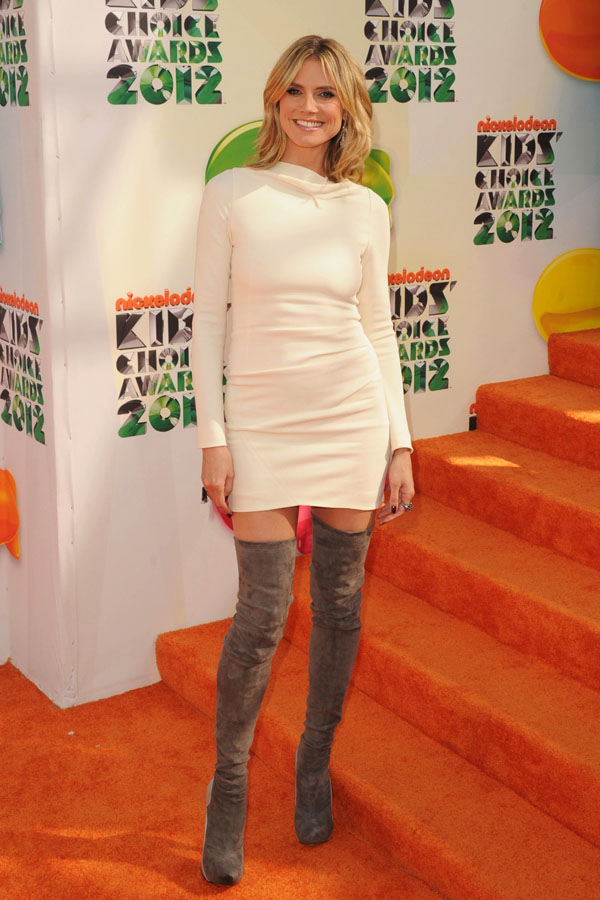 Heidi Klum arrives at Nickelodeon's 25th Annual Kids' Choice Awards
