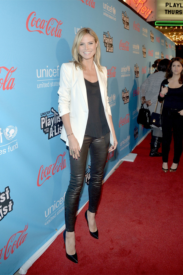 Heidi Klum at UNICEF Playlist With The A-List