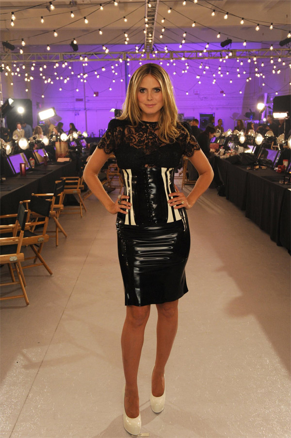 Heidi Klum  during the CBS promo shoot for The Victoria's Secret Fashion Show