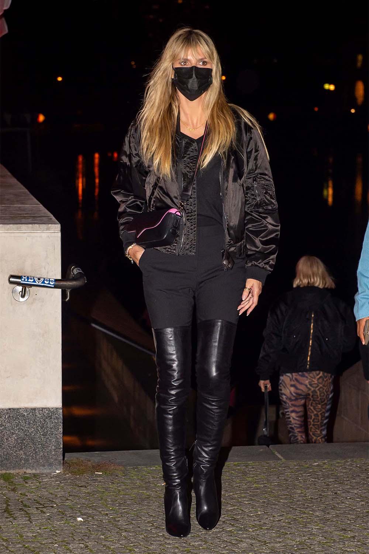 Heidi Klum seen at Grill Royal restaurant in Berlin