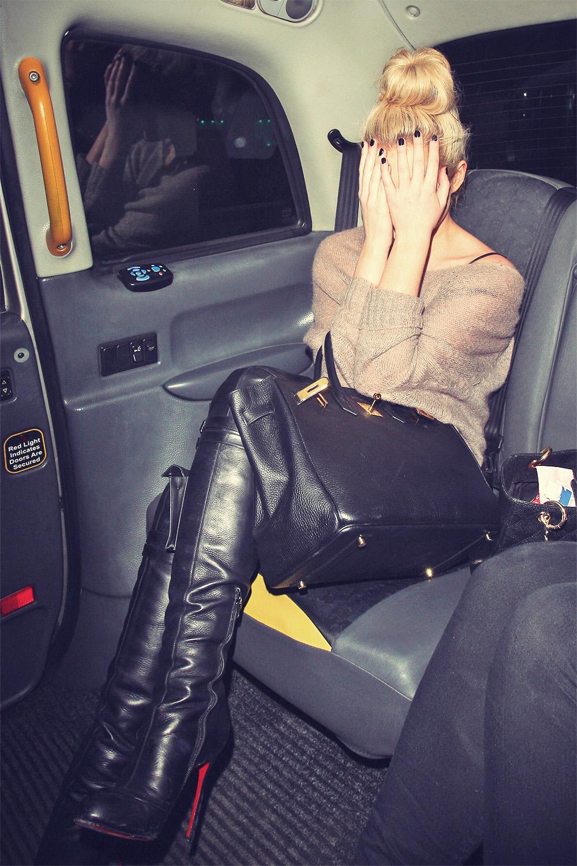 Helen Flanagan after leaving Aura night club