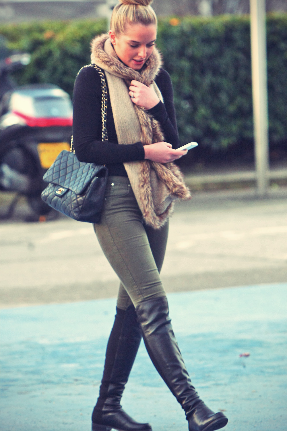 Helen Flanagan out & about in Manchester