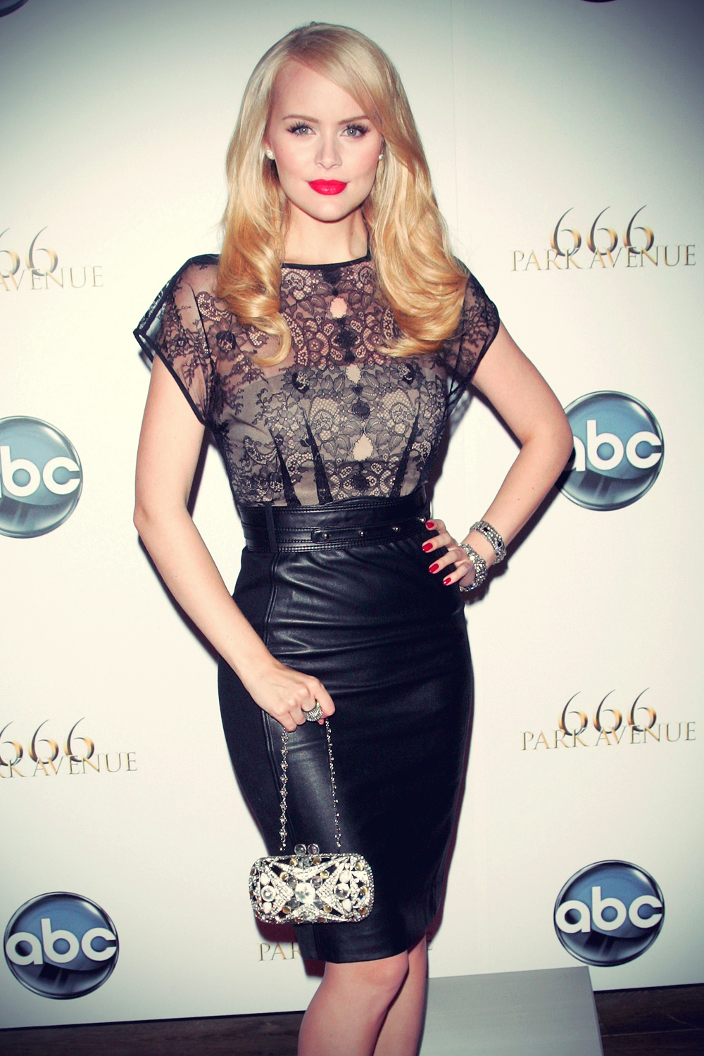 Helena Mattsson attends the 666 Park Avenue Series Premiere Party