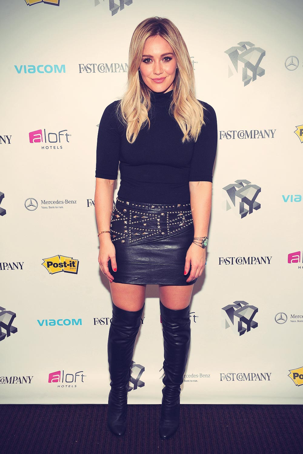 Hilary Duff attemds The Fast Company Innovation Festival Inside TV Land's Show Younger