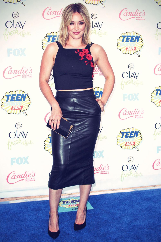 Hilary Duff attends FOX's 2014 Teen Choice Awards
