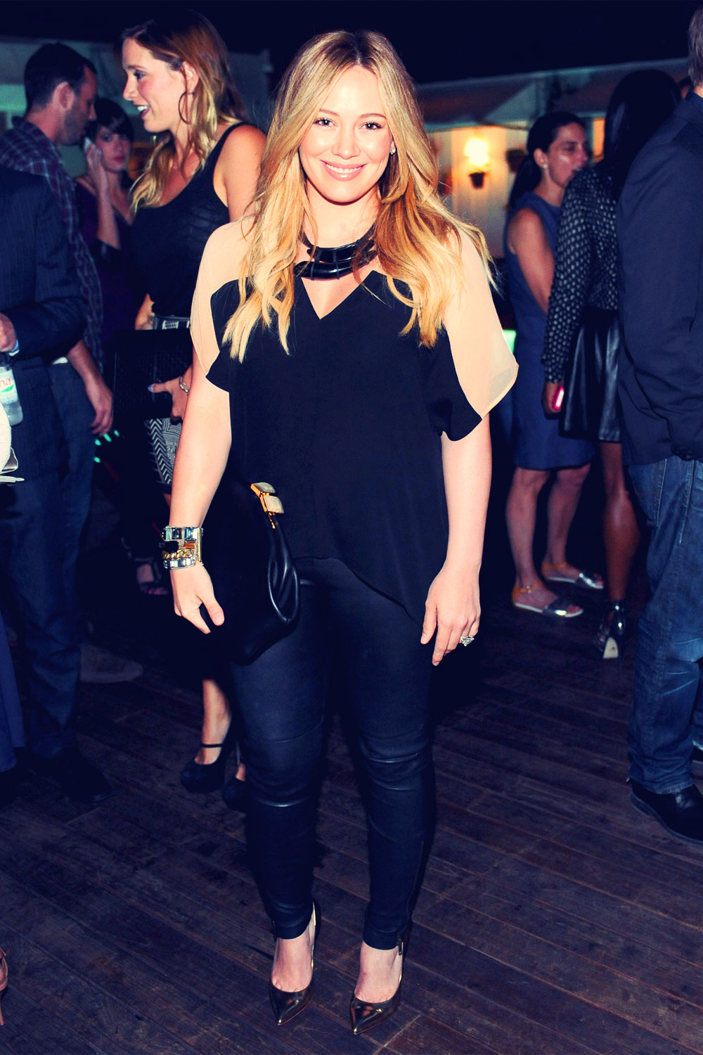 Hilary Duff at The Hollywood Reporter's celebration of The Mindy Project