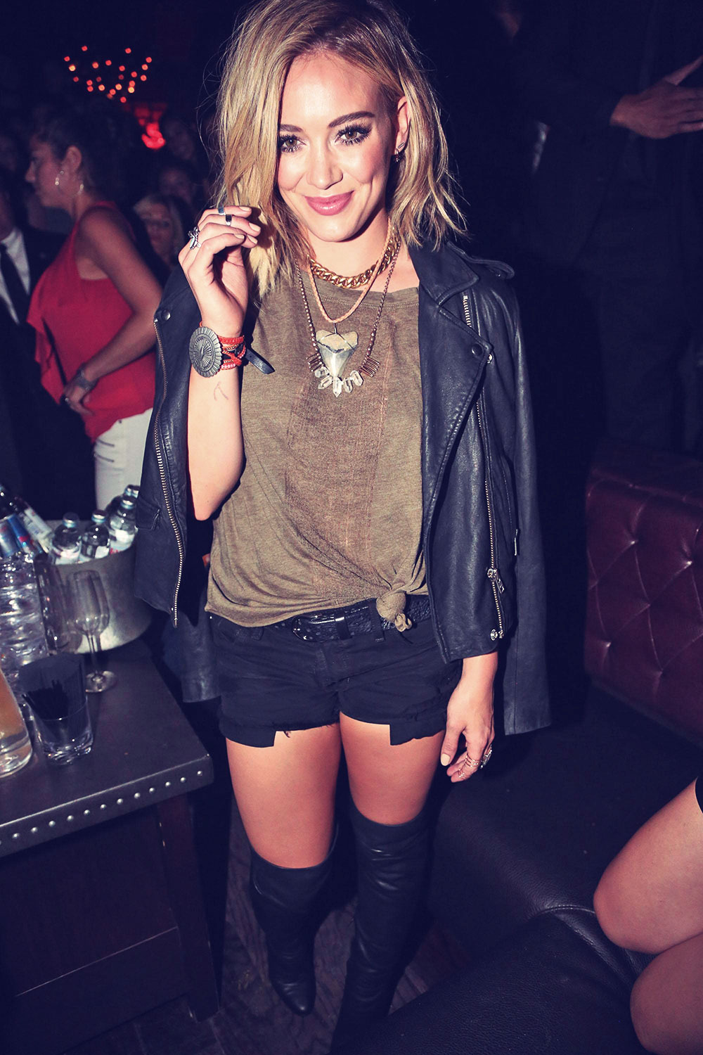 Hilary Duff attends Chasing The Sun single release celebration