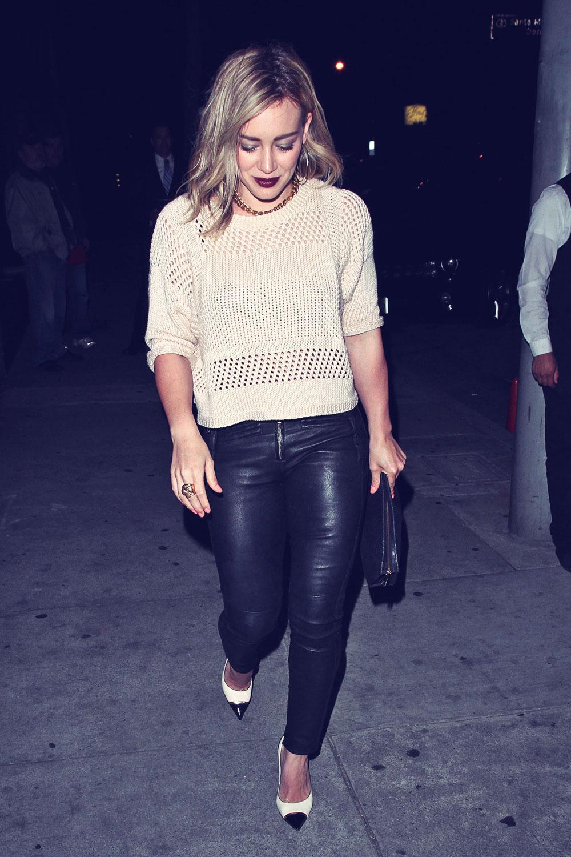 Hilary Duff leaving Craig's restaurant