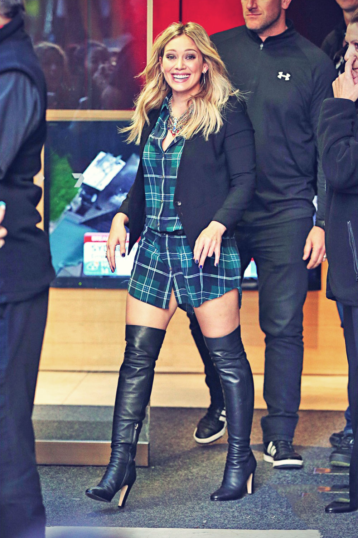 Hilary Duff leaves the Seven Sunrise Morning Show
