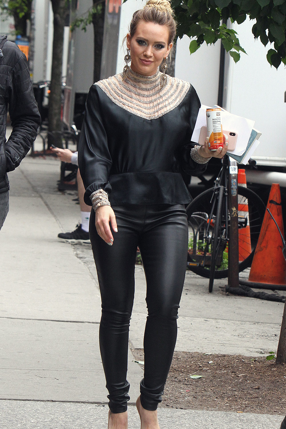 Hilary Duff on the set of 'Younger'