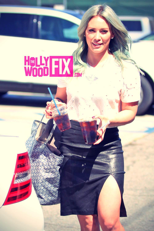 Hilary Duff out in LA