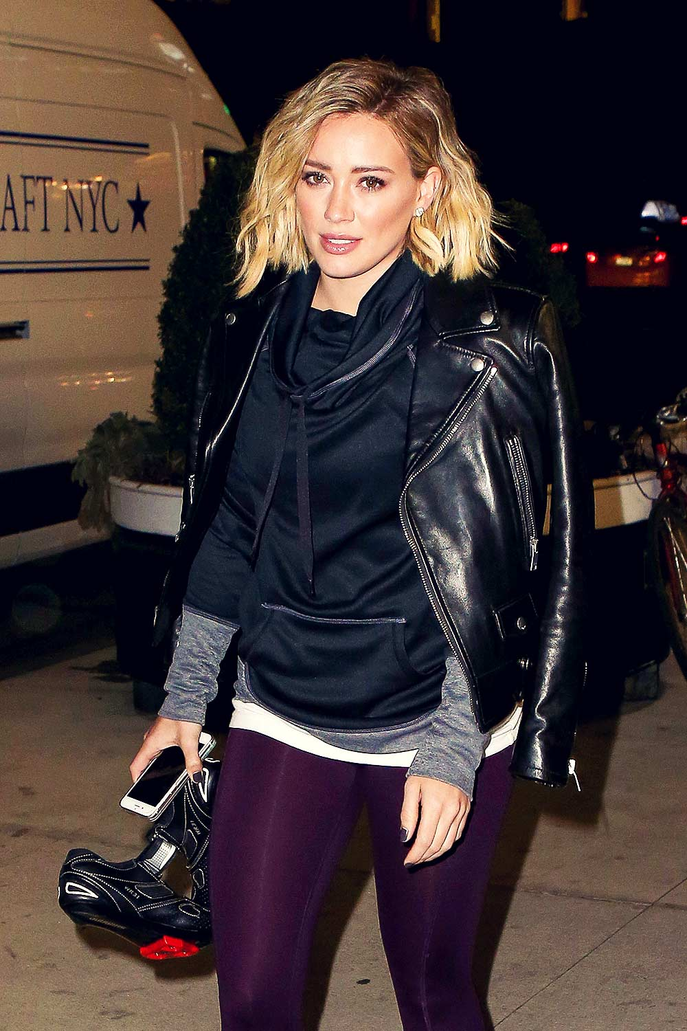Hilary Duff out in New York