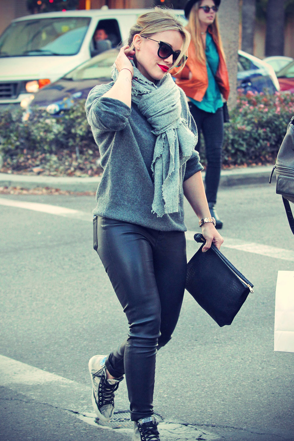 Hilary Duff seen out and about in LA