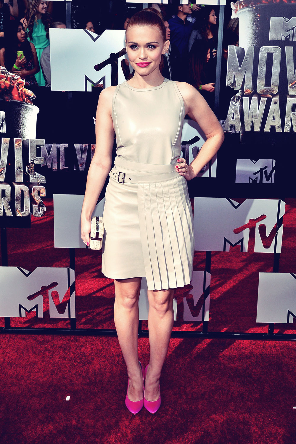 Holland Roden attends 2014 MTV Movie Awards