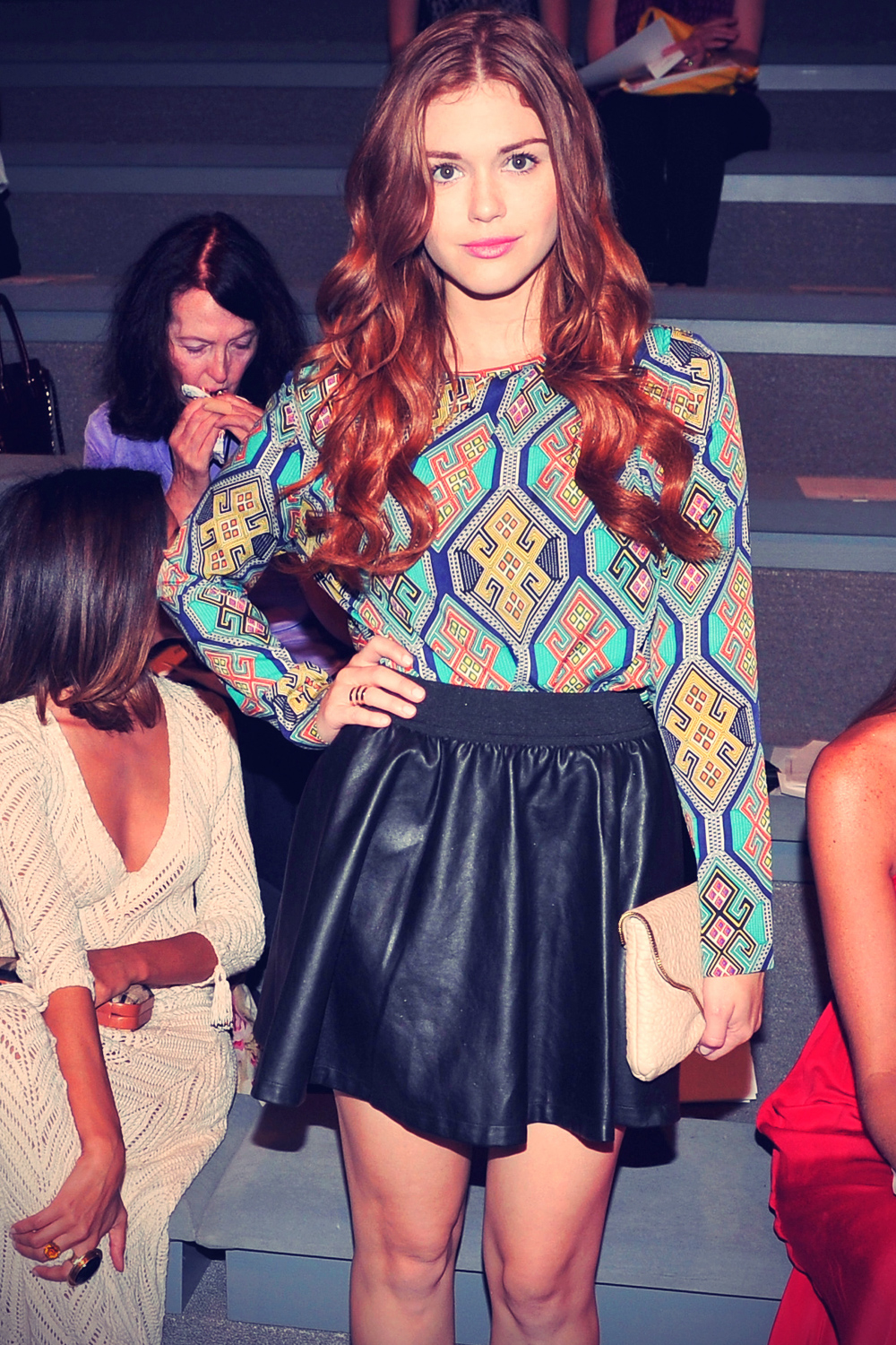 Holland Roden attends the Mara Hoffman Spring 2013