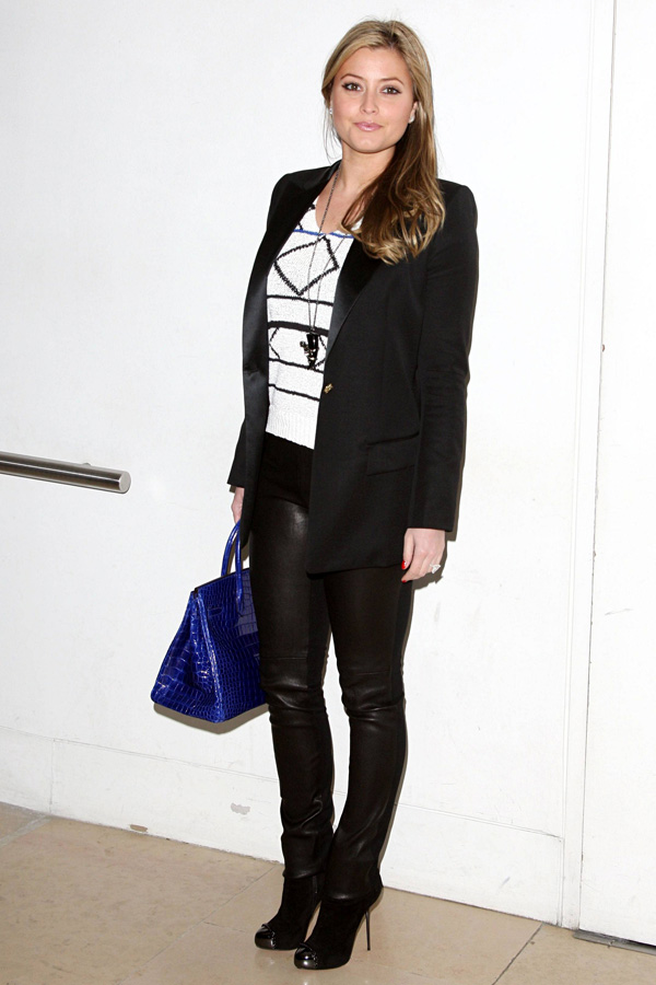 Holly Valance at Matthew Williamson fashion show in London