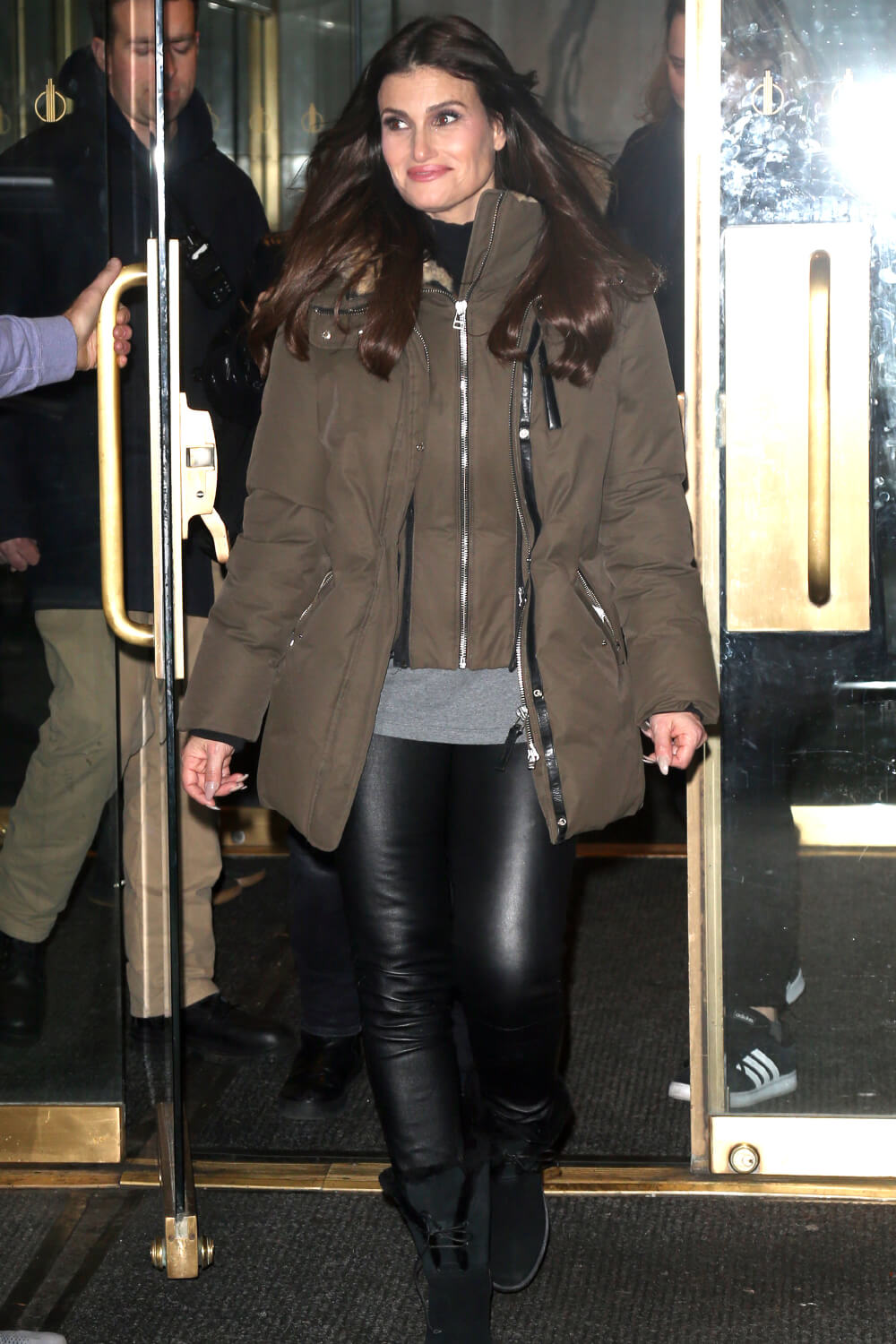 Idina Menzel out in New York