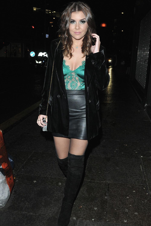 Imogen Thomas arrives at The Never Fully Dressed VIP festive dinner