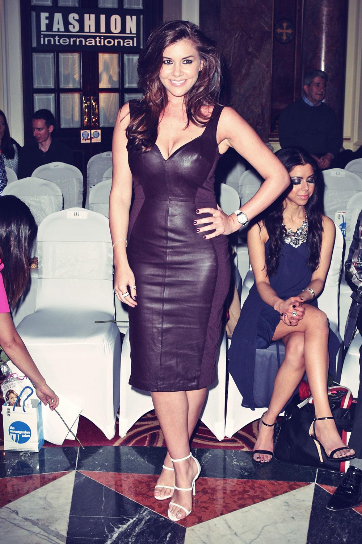Imogen Thomas attends Fashion International Show